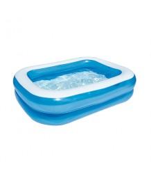 201 x 150 x 51cm Blue Rectangular Family Pool